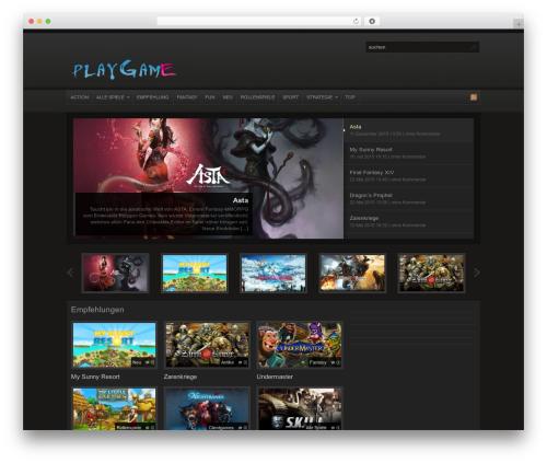 Arras WordPress gaming theme - play-browsergame.de