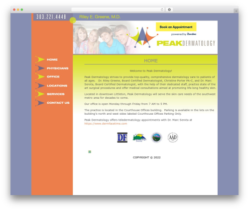 Best WordPress template Pixel Happy Child Theme - peakdermatology.com