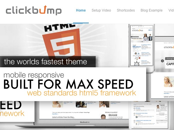 ClickBump WordPress movie theme