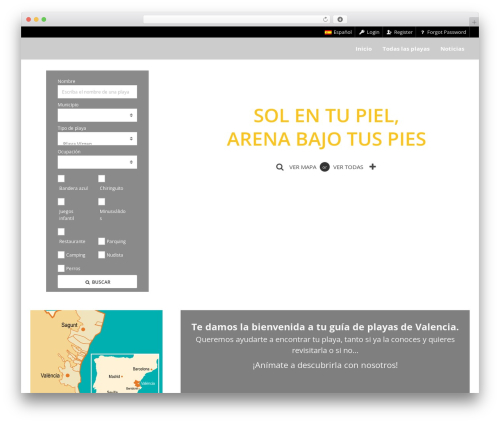 Pointfinder template WordPress - playas-valencia.com