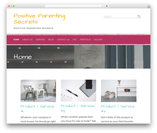 Primer WordPress theme - positiveparentingsecrets.com