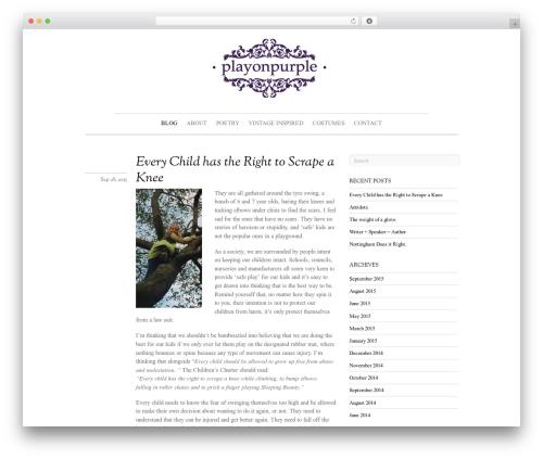 Theme WordPress Elemin - playonpurple.co.uk