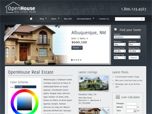 Web4All Mantaren real estate template WordPress