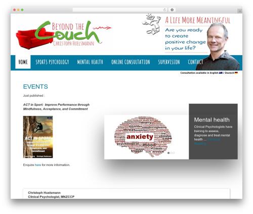 WordPress website template Outreach Pro - positivepsychology.co.nz