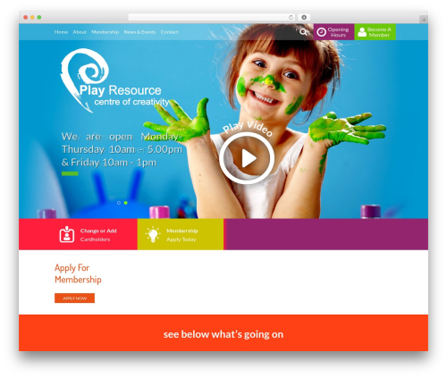 WP template WebsiteNI Theme - playresource.org