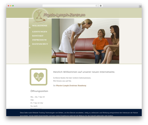 Activello free WP theme - physio-lymph-zentrum.de