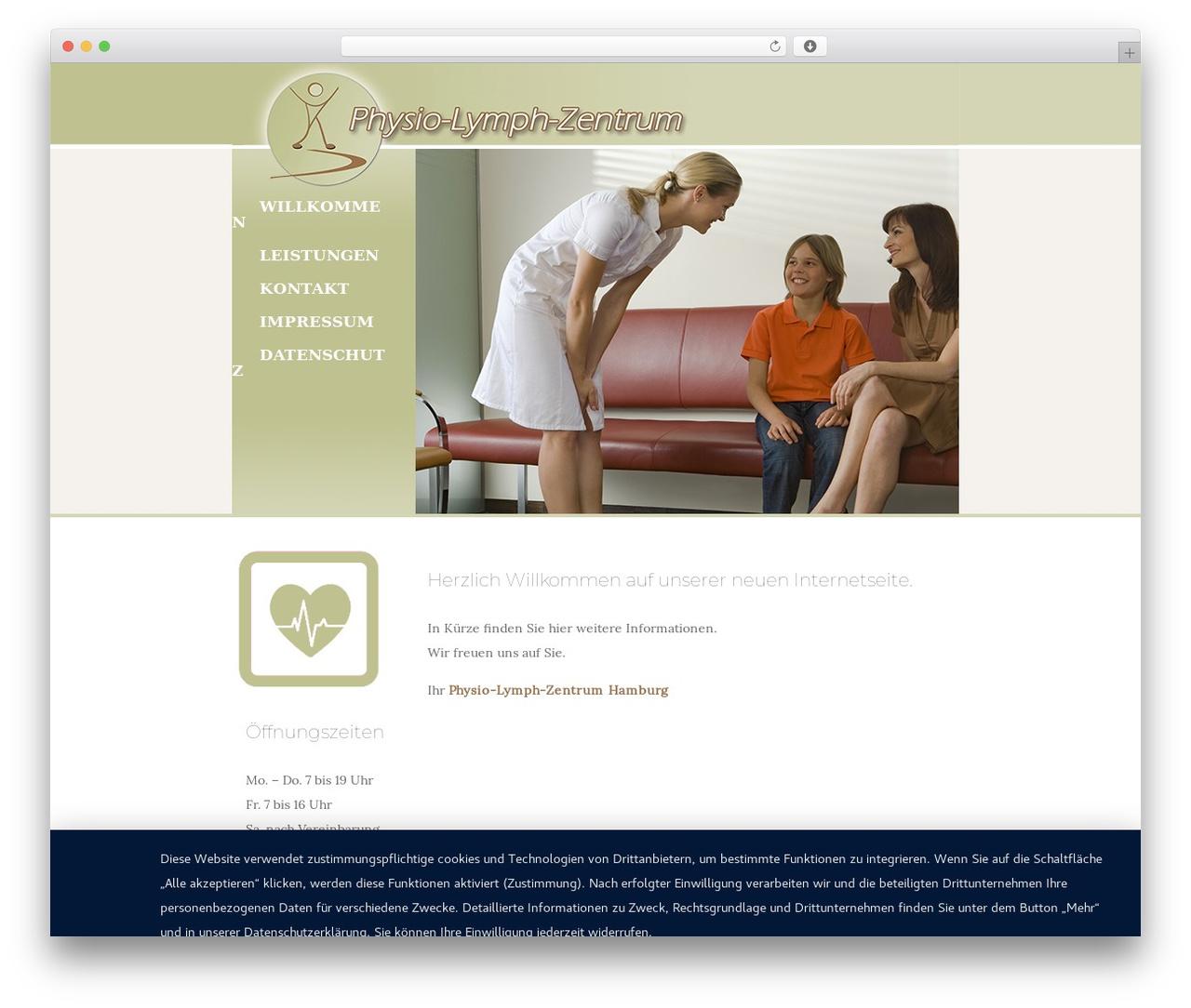 Activello free WP theme - physio-lymph-zentrum.de