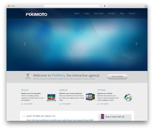 Envision Parent WordPress theme - piximoto.com