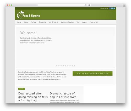 Modular WordPress page template - petsincumbria.co.uk