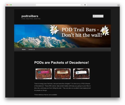 Free WordPress Twenty Eleven Theme Extensions plugin - podtrailbars.com