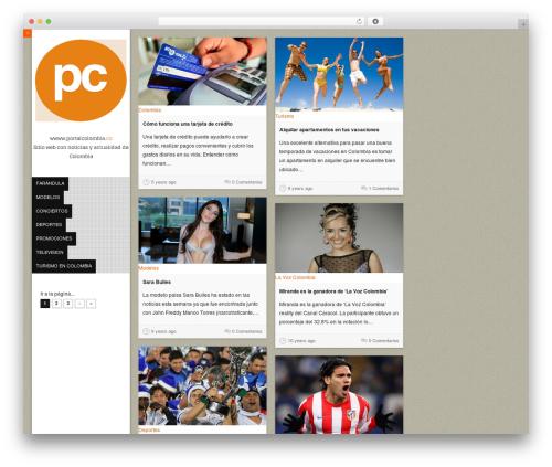 Vivo WordPress theme - portalcolombia.co