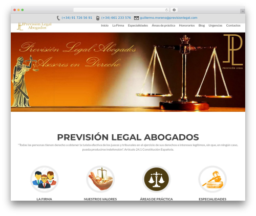 Zerif Lite WordPress template free - previsionlegal.com