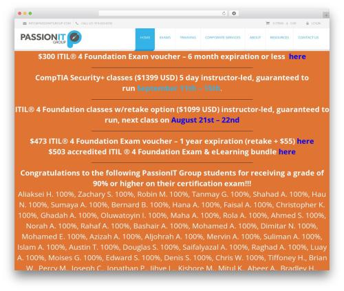 EXCEPTION business WordPress theme - passionitgroup.com