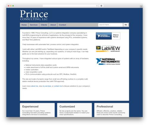 Responsive free WP theme - princeconsultingllc.com