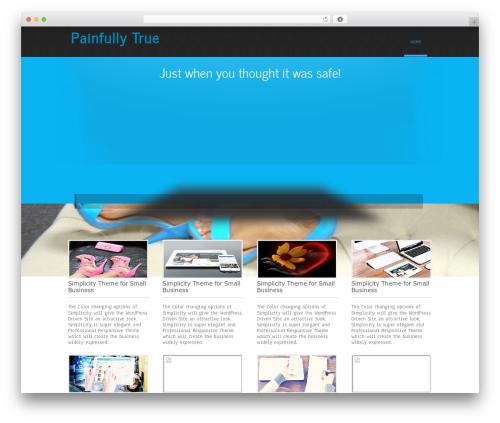 Simplicity Lite template WordPress free - painfullytrue.com