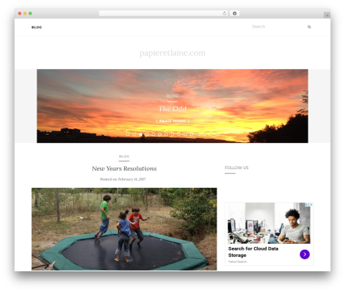 Activello free WordPress theme - papieretlaine.com