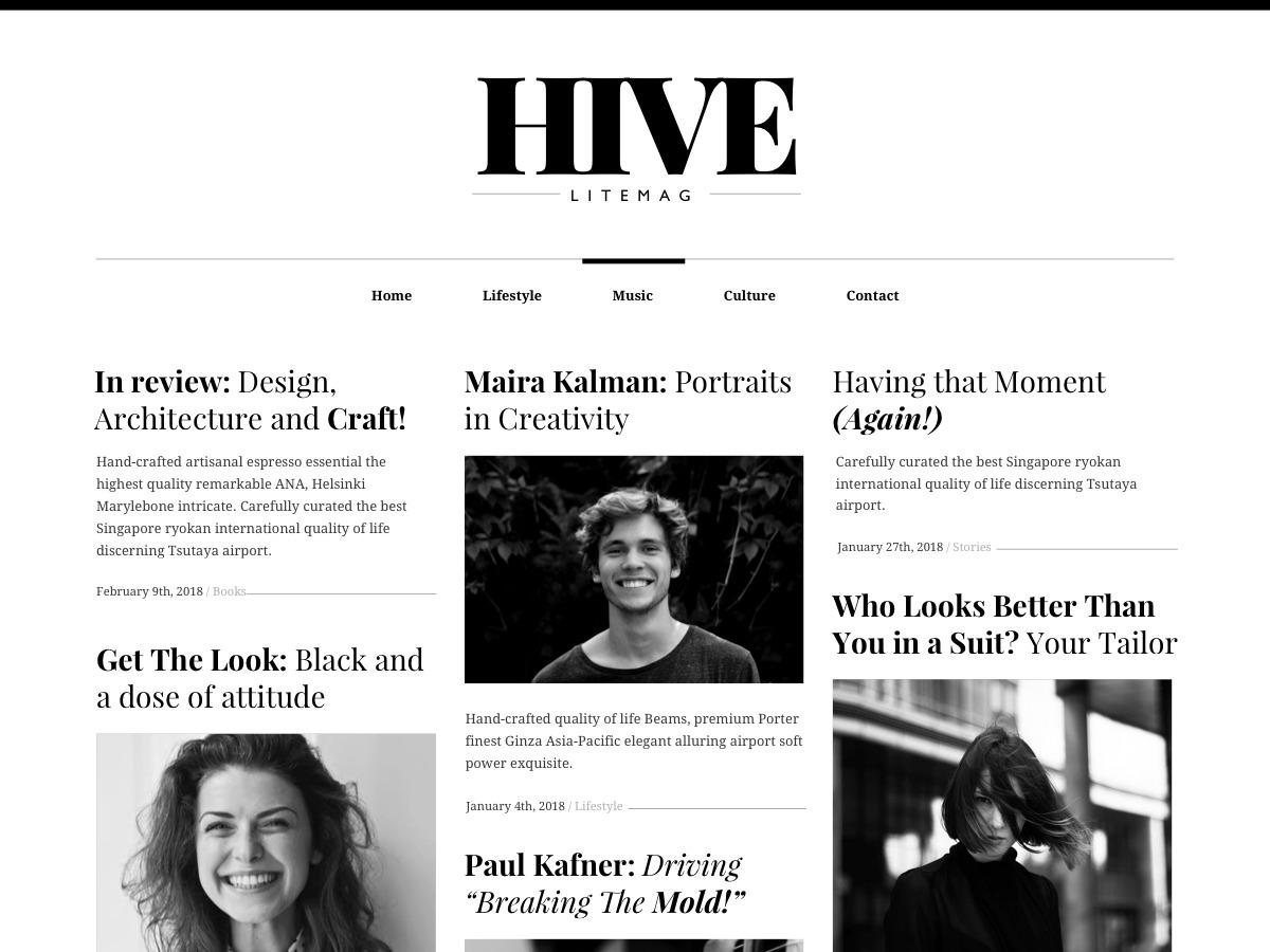 Hive Lite best WordPress video theme