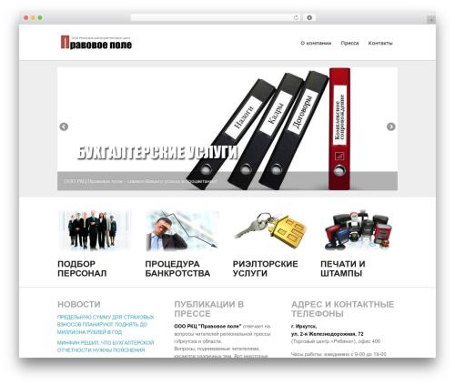 impulse WordPress theme - poleprav.ru