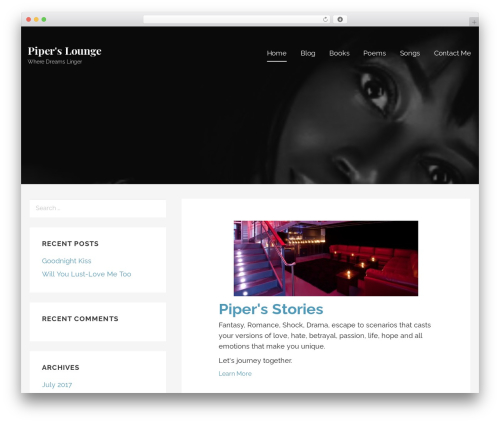 Lyrical WordPress theme - piperslounge.com