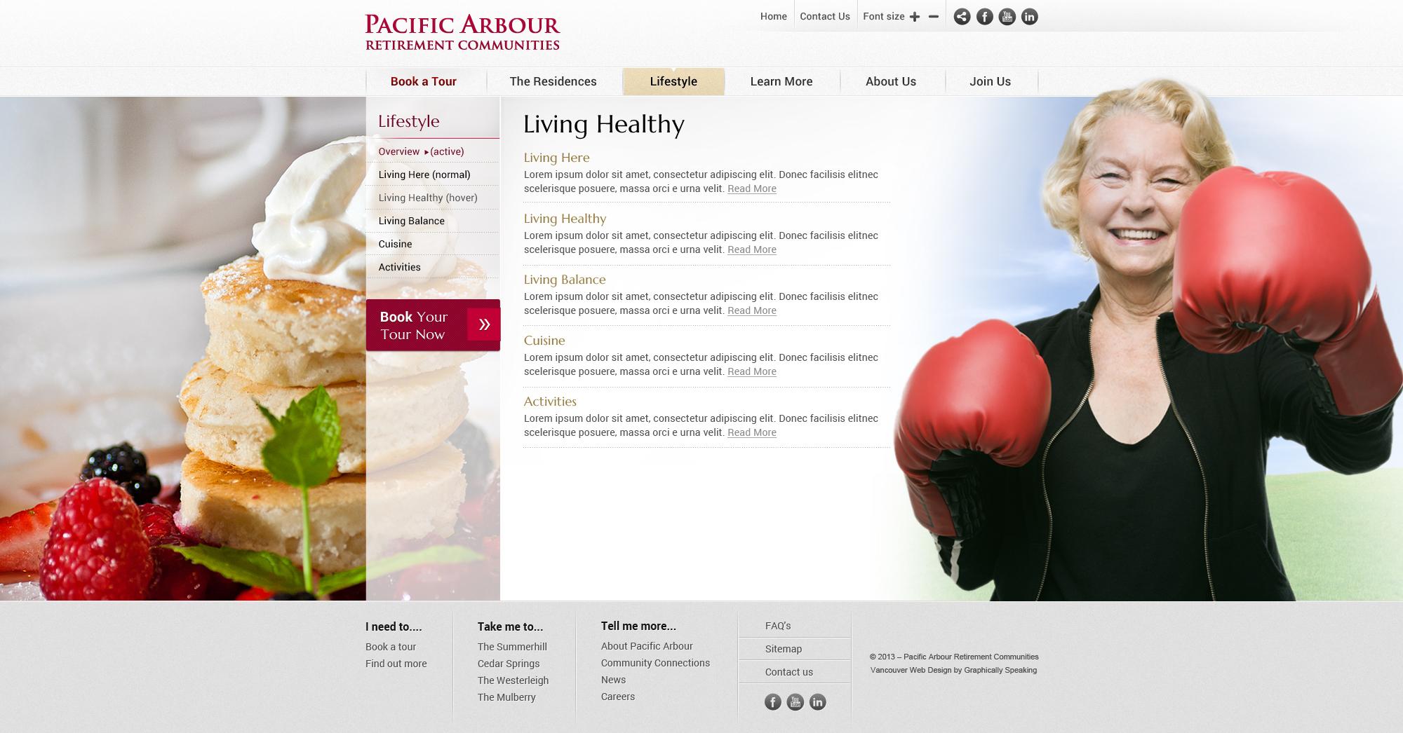 Pacific Arbour Custom theme WordPress