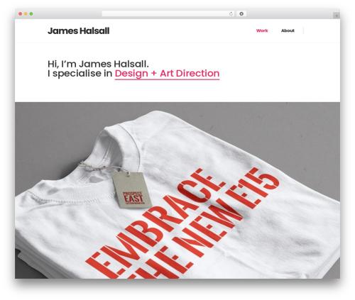 WordPress template Pitch - jameshalsalldesign.com