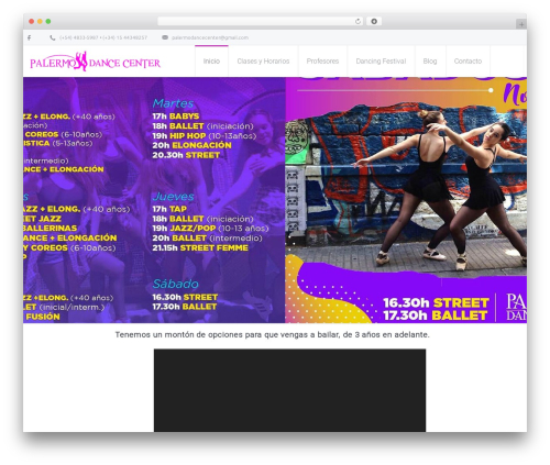 WordPress theme Salamat - palermodancecenter.com