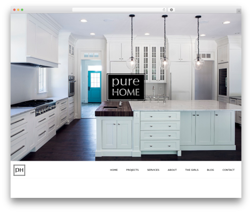 Credenza WordPress website template - purehomecollections.com