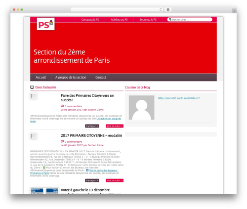 Magazine WordPress page template - paris02.parti-socialiste.fr