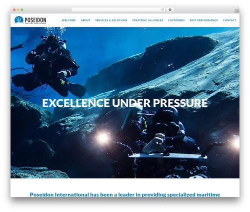 Movedo WordPress theme - poseidon-intl.com