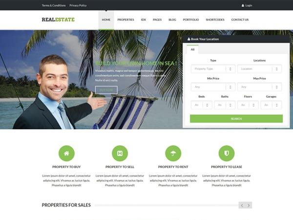 RealEstate WordPress photo theme