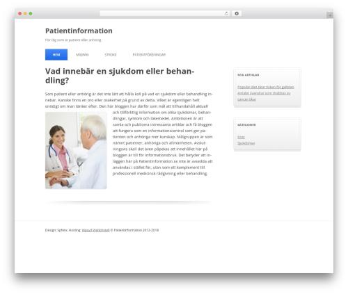 Silver Blue WordPress website template - patientinformation.se