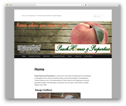 Twenty Eleven free website theme - peachhomesandproperties.com