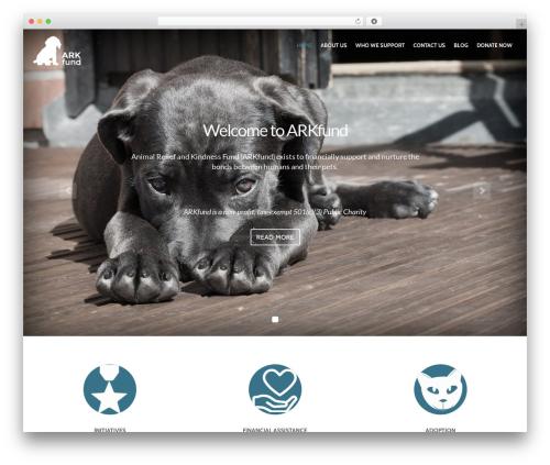 WordPress theme PetCare - petrelief.org
