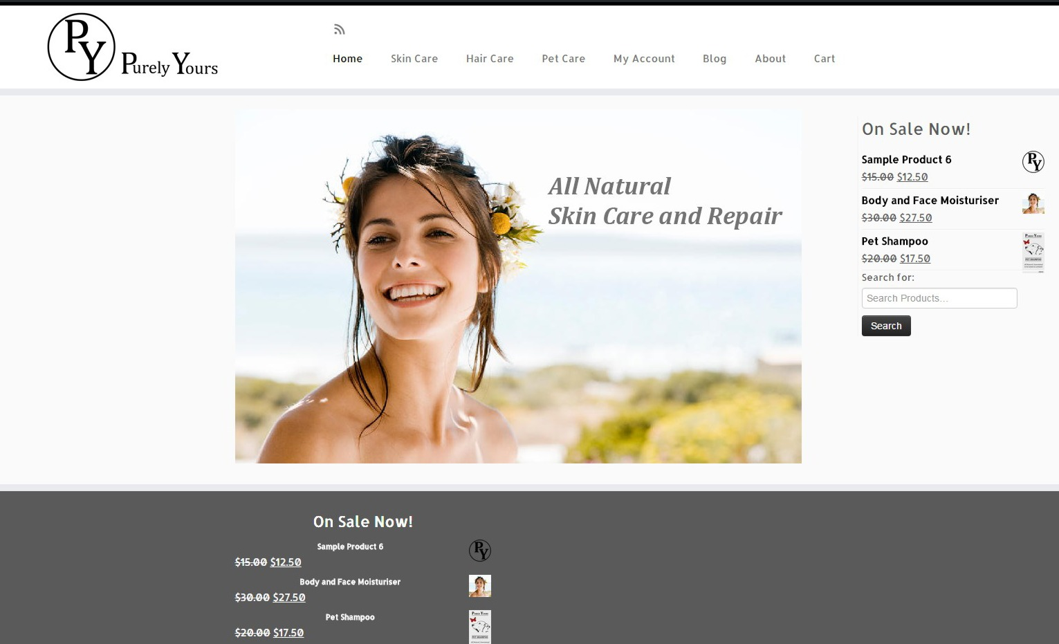 WordPress theme Purely Yours