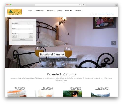 WordPress website template Appointment - posadaelcamino.es