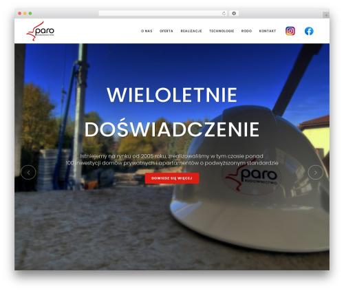 WordPress website template Bridge - paro.pl