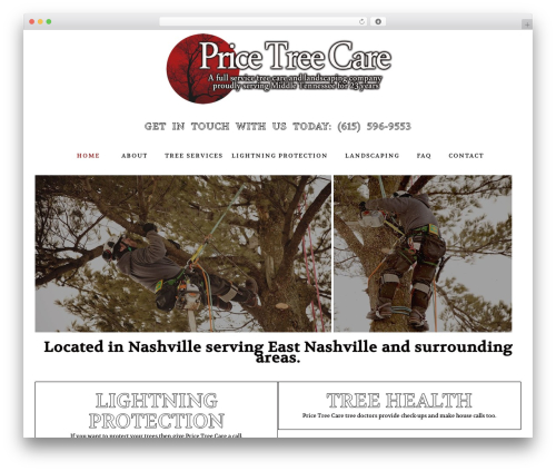 Arborist 2 - V8 theme WordPress - pricetreecare.com