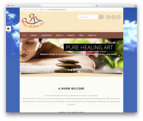 Dream Spa massage WordPress theme - purehealingart.com