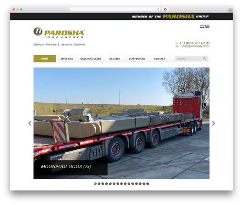 Finesse WordPress website template - parosha.nl