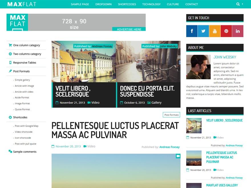 MaxFlat Core WordPress news template