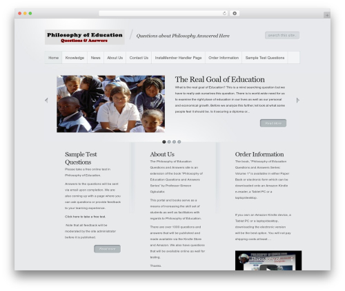 Minimal theme WordPress - philosophyofeducationquestionsandanswers.com