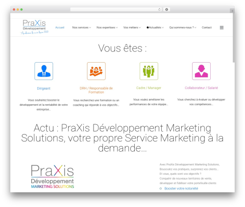 Theme WordPress Satellite7 - praxis-developpement.fr