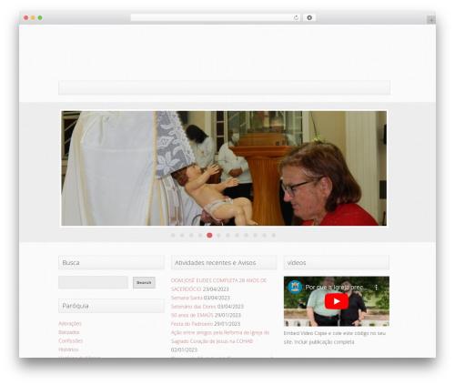 Trinity (Free Edition) WordPress theme - paroquiadesaosebastiao.net