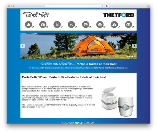 WordPress theme Thetford Porta Potti - porta-potti.co.uk