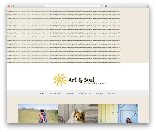Baltimore WordPress theme - photographyourchild-vero.com