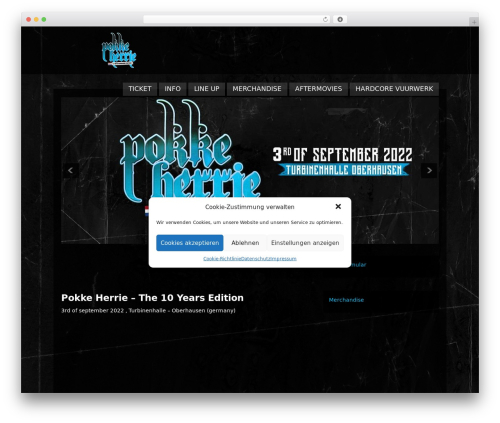 Clubber WordPress page template - pokke-herrie.com