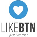Free WordPress Like Button Rating ♥ LikeBtn plugin