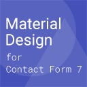 Free WordPress Material Design for Contact Form 7 plugin