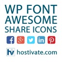 Free WordPress WP Font Awesome Share Icons plugin