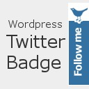 Free WordPress WP-TwitterBadge plugin